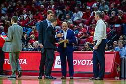 NORMAL, IL - November 06: Bruins Assistant Coaching staff Sean Rutigliano, Mick Hedgepeth, Casey Alexander, Tyler Holloway and Brian Ayers during a college basketball game between the ISU Redbirds and the Belmont Bruins on November 06 2019 at Redbird Arena in Normal, IL. (Photo by Alan Look)
