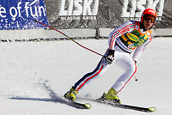 Cyprien Richard of Austria during 2nd Rund of Men's Giant Slalom of FIS Ski World Cup Alpine Kranjska Gora, on March 5, 2011 in Vitranc/Podkoren, Kranjska Gora, Slovenia.  (Photo By Vid Ponikvar / Sportida.com)