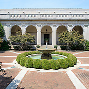 Freer Gallery of Art Interior Courtyard. The interior courtyard of the Freer Gallery of Art. The Freer Gallery of Art, on Washington DC's National Mall, joined the Arthur M. Sackler Gallery to form the Smithsonian Institution's Asian art gallery. The Freer Gallery contains a sizeable collection of Asian art, but also has a major collection of works by James McNeill Whistler.
