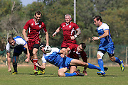 Israel vs Latvia (17-15)   2015 Rugby World Cup Qualifier / FIRA Championship D2 match...at Wingate Institute stadium in the Mediterranean coastal city of Netanya,   Israel, on April 6, 2013.Israel won the match 17-15. .