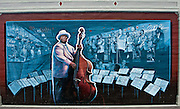Mural on wall in downtown Vicksburg Mississippi