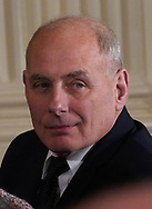 White House Chief of Staff John Kelly in the East Room of the White House on April 3, 2018<br /> Photo by Dennis Brack