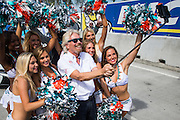 March 14, 2015 - FIA Formula E Miami EPrix: Sir Richard Branson and Miami Dolphin cheerleaders