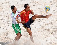 FIFA BEACH SOCCER WORLD CUP 2008 SPAIN - MEXICO   20.07.2008 Israel SANTOYO (MEX, l) against Javier TORRES (ESP).