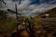 Inhapim_MG, Brazil.<br /> <br /> Cruz para lembrar falecido em acidente de transito deste trecho da  BR 116 em Inhapim, Minas Gerais.<br /> <br /> Cross to remember deceased in car accident in the highway BR 116 in Inhapim, Minas Gerais.<br /> <br /> Foto: LEO DRUMOND / NITRO