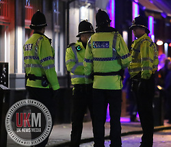 Manchester UK  24.12.2016: Images from Manchesters Gay Village during the Mad Friday celebrations this on the 23 and 24th of December,<br /> <br /> Police in Manchester gay village