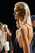 Models at the Monika Chiang show at Spring 2013 Fashion Week in New York.