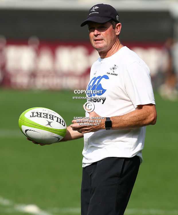 Sean Everitt (Assistant Coach) of the Cell C Sharks during The Cell C Sharks captain's run at Growthpoint Kings Park in Durban, South Africa. 3rd August 2017(Photo by Steve Haag)<br /> <br /> images for social media must have consent from Steve Haag