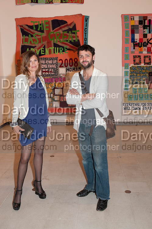 SOPHIE HASTINGS; CONRAD SHAWCROSS, Opening of Love is what you want. Exhibition of work by Tracey Emin. Hayward Gallery. Southbank Centre. London. 16 May 2011. <br /> <br />  , -DO NOT ARCHIVE-&copy; Copyright Photograph by Dafydd Jones. 248 Clapham Rd. London SW9 0PZ. Tel 0207 820 0771. www.dafjones.com.