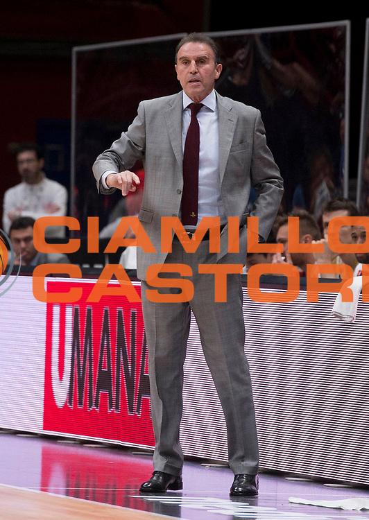 MILANO 22 NOVEMBRE 2015<br /> EA7 OLIMPIA MILANO - UMANA REYER VENEZIA<br /> NELLA FOTO Carlo Recalcati<br /> FOTO CIAMILLO