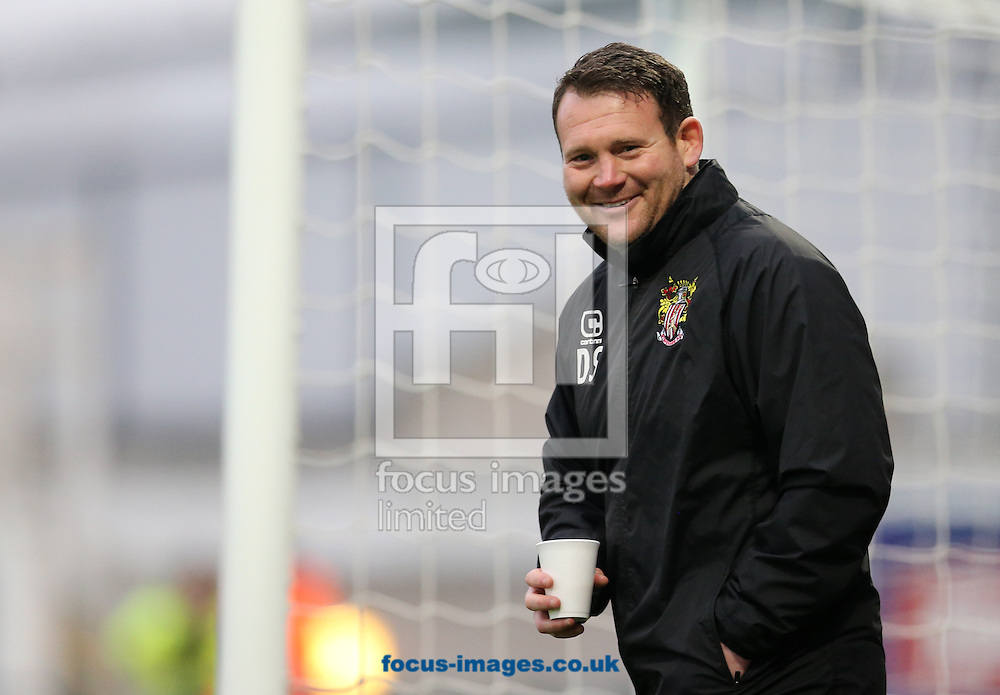 Stevenage manager Darren Sarll prior to the Sky Bet League 2 match at Victoria Park, Hartlepool<br /> Picture by Simon Moore/Focus Images Ltd 07807 671782<br /> 21/01/2017