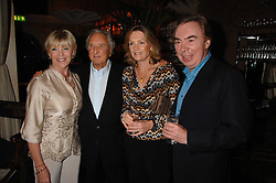 Left to right, GERALDINE LYNTON-EDWARDS, MICHAEL WINNER and LORD & LADY LLOYD-WEBBER at a party to celebrate the publication of Michael Winner's new book 'Fat Pig Diet' held at The Belvedere, Holland Park, London on 17th October 2007.<br /><br />NON EXCLUSIVE - WORLD RIGHTS