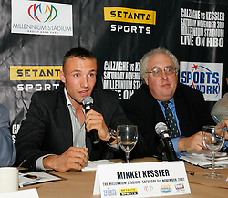 September 4, 2007; New York, NY, USA; WBA/WBC Super Middleweight Champion Mikkel Kessler at the press conference announcing November 3, 2007 fight against WBO Super Middleweight Champion Joe Calzaghe.  The fight will take place at the Millennium Stadium, Cardiff, Wales, United Kingdom.