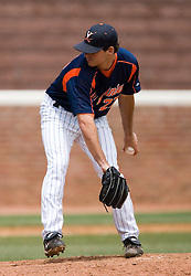 Virginia Cavaliers pitcher Alex Smith (27).  The Oregon State Beavers defeated the Virginia Cavaliers 7-3 in Game 7 of the NCAA World Series Charlottesville Regional held at Davenport Field in Charlottesville, VA on June 5, 2007.  With the win, the Beavers advance to the NCAA Super Regional.
