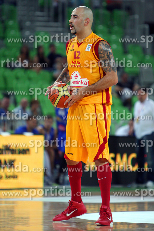 Pero Antic of Macedonia at friendly match between Macedonia and BIH for Adecco Cup 2011 as part of exhibition games before European Championship Lithuania on August xx, 2011, in SRC Stozice, Ljubljana, Slovenia. (Photo by Urban Urbanc / Sportida)