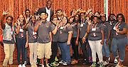 David Robinson with students from Davis, Jordan and Worthing high schools
