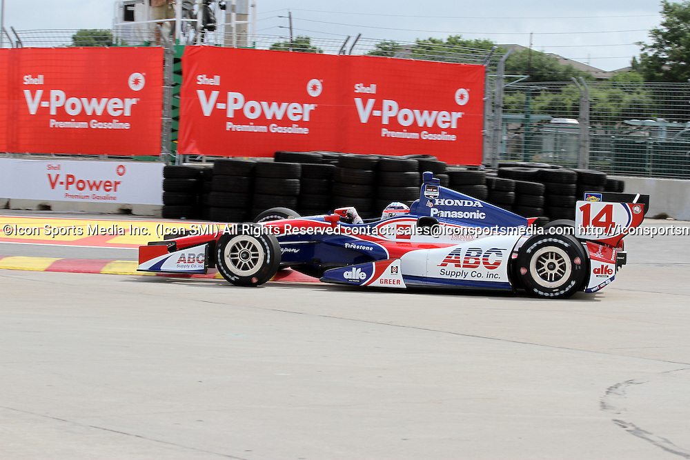 June 27, 2014: Takuma Sato during practice for the IndyCar Series Grand Prix of Houston at MD Anderson Cancer Center Speedway in Houston, TX.