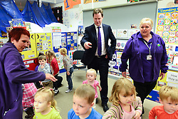 © Licensed to London News Pictures. 30/05/2013. Gravesend, UK British Deputy Prime Minister and Liberal Democrat MP, Nick Clegg, visits Bright Beginnings Nursery to promote the Governments free childcare for two year olds scheme today 30th May 2013. Photo credit : Stephen Simpson/LNP