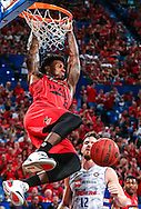 Casey Prather of the Perth Wildcats dunks the ball