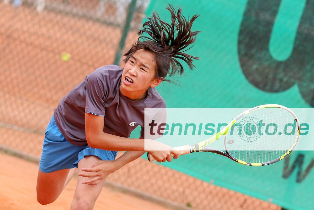Julia Zhu (Tennis-Club SCC Berlin), Verbandsmeisterschaften des TVBB (Damen und Herren), Berlin, 01.06.2018, Foto: Claudio Gärtner