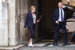 © Licensed to London News Pictures. 05/09/2019. London, UK. Leader of Change UK Anna Soubry talks with MP for Aylesbury David Lidington in Parliament . Later Today Prime Minister Boris Johnson will travel to Yorkshire to make a speech. Photo credit: George Cracknell Wright/LNP