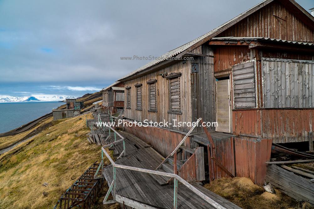 Pyramiden a Coal mining town, former Russian coal mining settlement in Billefjorden, Spitsbergen, Norway