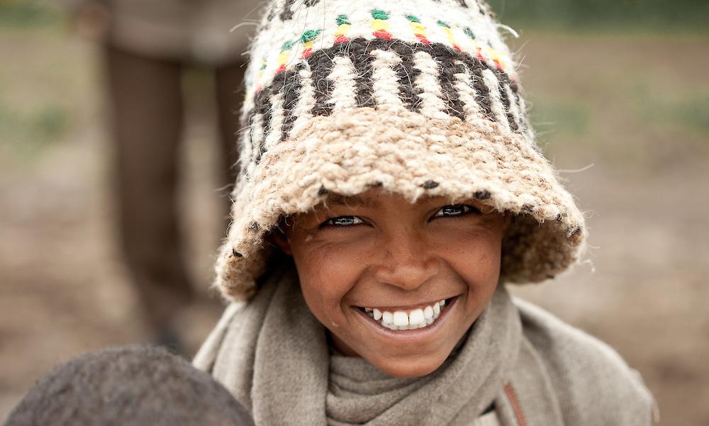 Boy smiling, Mehal Meda, Guassa Plateau, Ethiopia