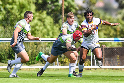 Whitehavens' Jesse Joe Nandye in action during todays match<br /> <br /> Photographer Craig Thomas/Replay Images<br /> <br /> Betfred League 1 - West Wales Raiders v Whitehaven  - Saturday 23rd June 2018 - Stebonheath Park - Llanelli<br /> <br /> World Copyright © 2017 Replay Images. All rights reserved. info@replayimages.co.uk - www.replayimages.co.uk