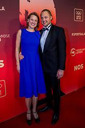 21-12-2016 NED: Sportgala NOC * NSF 2016, Amsterdam<br /> In de Amsterdamse RAI vindt het traditionele NOC NSF Sportgala weer plaats / Beachvolleybal coach Gijs Ronnes en partner Shirley