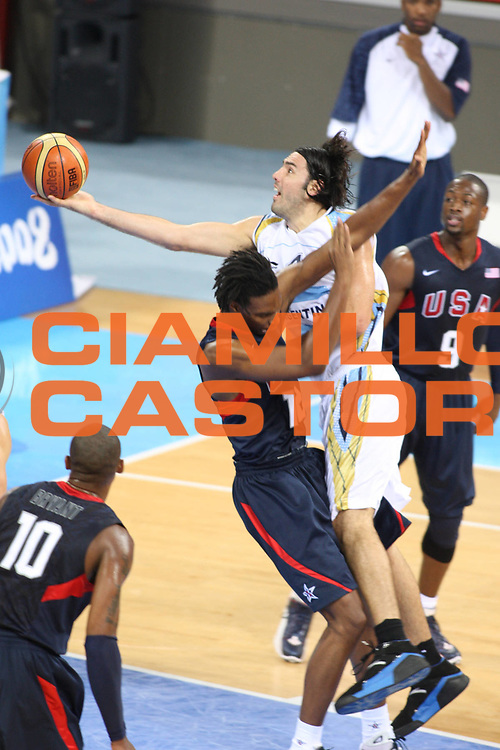 DESCRIZIONE : Beijing Pechino Olympic Games Olimpiadi 2008 Men Semifinal USA Argentina<br /> GIOCATORE : Luis SCOLA <br /> SQUADRA : Argentina<br /> EVENTO : Olympic Games Olimpiadi 2008<br /> GARA : USA Argentina<br /> DATA : 22/08/2008 <br /> CATEGORIA : Tiro<br /> SPORT : Pallacanestro <br /> AUTORE : Agenzia Ciamillo-Castoria/G.Ciamillo<br /> Galleria : Beijing Pechino Olympic Games Olimpiadi 2008 <br /> Fotonotizia : Beijing Pechino Olympic Games Olimpiadi 2008 Men Semifinal USA Argentina<br /> Predefinita :