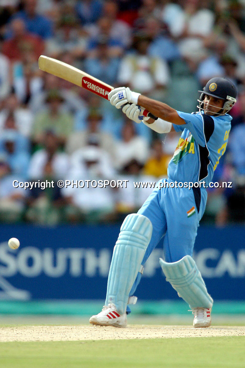 24th March 2003. 2003 Cricket World Cup Final. Johannesburg, South Africa. Australia vs India.<br />Sourav Ganguly.<br />Pic: Photosport