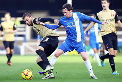 Peterborough United's Danny Swanson in action with Leyton Orient's Gary Sawyer - Photo mandatory by-line: Joe Dent/JMP - Tel: Mobile: 07966 386802 02/11/2013 - SPORT - FOOTBALL - London Road Stadium - Peterborough - Peterborough United v Leyton Orient - Sky Bet League One