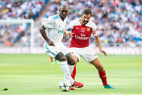 Real Madrid Legends Clarence Seedorf and Arsenal Legends Robert Pires during Corazon Classic Match between Real Madrid Legends and Arsenal Legends at Santiago Bernabeu Stadium in Madrid, Spain. June 03, 2018. (ALTERPHOTOS/Borja B.Hojas)