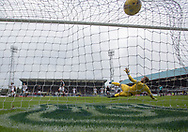 Dundee&rsquo;s Darren O&rsquo;Dea fires home the Dark Blues' equaliser from the penalty spot - Dundee v Ross County, in the Ladbrokes Scottish Premiership at Dens Park, Dundee, Photo: David Young<br /> <br />  - &copy; David Young - www.davidyoungphoto.co.uk - email: davidyoungphoto@gmail.com