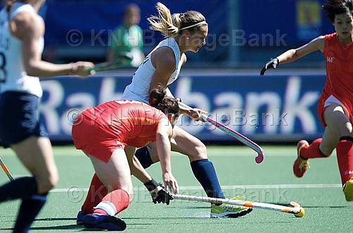 DEN HAAG - Rabobank Hockey World Cup<br /> 16 China - USA<br /> Foto: duel.<br /> COPYRIGHT FRANK UIJLENBROEK FFU PRESS AGENCY