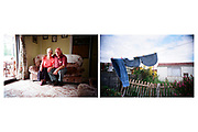 Unknown couple - Arcon prefab - Newport - Wales - 2003