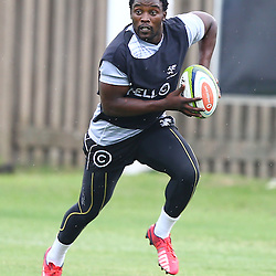 DURBAN, SOUTH AFRICA - : Lwazi Mvovo during the Cell C Sharks training session at Growthpoint Kings ParkDurban, South Africa. (Photo by Steve Haag)