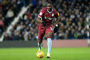 Aston Villa midfielder (on loan from Everton) Yannick Bolasie (11) sprints forward with the ball during the EFL Sky Bet Championship match between West Bromwich Albion and Aston Villa at The Hawthorns, West Bromwich, England on 7 December 2018.