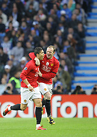 20090415: PORTO, PORTUGAL - FC Porto vs Manchester United: Champions League 2008/2009 Ð Quarter Finals Ð 2nd leg. In picture: Cristiano Ronaldo celebrating his goal with Rooney. PHOTO: Ricardo Estudante/CITYFILES