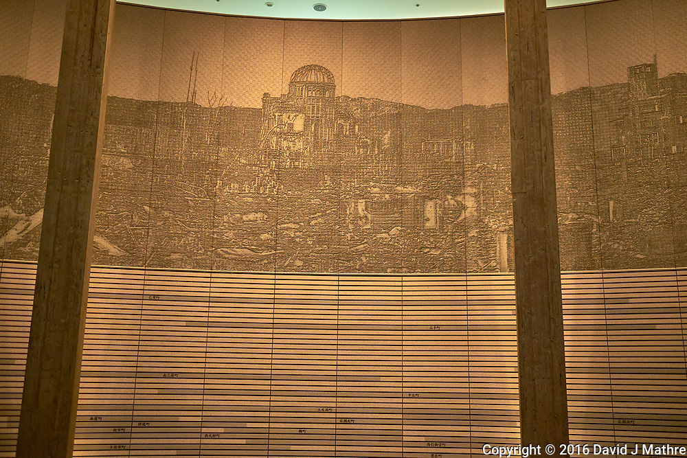 Display of Ground Zero at the Hiroshima Peace Museum. Image 8 of 19 taken with a Fuji X-T1 camera and 23 mm f/1.4 lens (ISO 800, 23 mm, f/1.4, 1/30 sec).