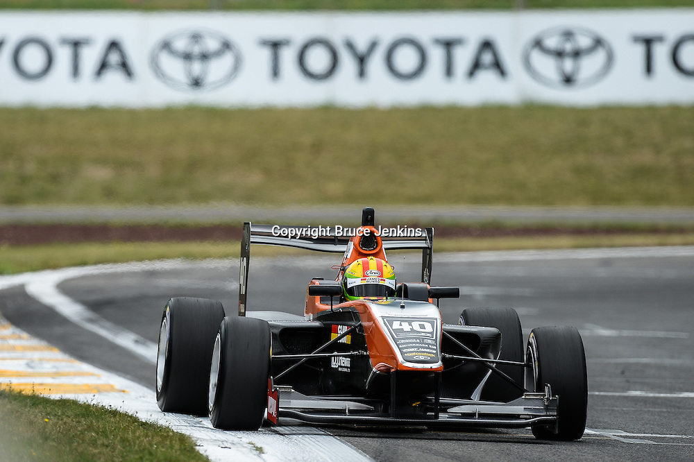 James Munro from New Zealand during qualifying for Round 4 of the Toyota Racing Series at Bruce Mclaren Motorsport Park, Taupo, New Zealand on Saturday Feb 6 2016