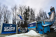 Poland, Wisla Malinka - 2017 November 19: Tilen Bartol from Slovenia soars through the air while Men's Individual HS134 competition during FIS Ski Jumping World Cup Wisla 2017/2018 - Day 3 at jumping hill of Adam Malysz on November 19, 2017 in Wisla Malinka, Poland.<br /> <br /> Mandatory credit:<br /> Photo by © Adam Nurkiewicz<br /> <br /> Adam Nurkiewicz declares that he has no rights to the image of people at the photographs of his authorship.<br /> <br /> Picture also available in RAW (NEF) or TIFF format on special request.<br /> <br /> Any editorial, commercial or promotional use requires written permission from the author of image.