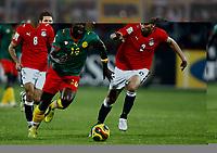 Fotball<br /> Afrika mesterskapet 2008<br /> Foto: DPPI/Digitalsport<br /> NORWAY ONLY<br /> <br /> FOOTBALL - AFRICAN CUP OF NATIONS 2008 - QUALIFYING ROUND - GROUP C - 22/01/2008 - EGYPT v CAMEROON - ACHILLE EMANA (CAM) / MAHMOUD FATHALLA (EGY)<br /> <br /> Egypt v Kamerun