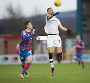 Dundee's Marcus Haber and Inverness' Jamie McCart - Inverness Caledonian Thistle v Dundee in the Ladbrokes Scottish Premiership at Caledonian Stadium, Inverness.Photo: David Young<br /> <br />  - © David Young - www.davidyoungphoto.co.uk - email: davidyoungphoto@gmail.com