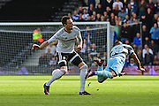 Queens Park Rangers midfielder Tjaronn Chery (10) takes a dive during the EFL Sky Bet Championship match between Fulham and Queens Park Rangers at Craven Cottage, London, England on 1 October 2016. Photo by Jon Bromley.