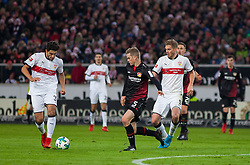 December 8, 2017 - Stuttgart, Germany - Stuttgarts Berkay Ozcan initiates a counter, while Leverkusens Sven Bender tries to get the ball during the Bundesliga match between VfB Stuttgart and Bayer 04 Leverkusen at Mercedes-Benz Arena on December 8, 2017 in Stuttgart, Germany. (Credit Image: © Bartek Langer/NurPhoto via ZUMA Press)