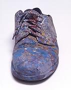 still life of a old painter shoe