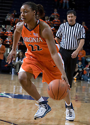 Virginia Cavaliers Guard Monica Wright (22) in action against Duke.  The University of Virginia Cavaliers lost to the #1 ranked Duke University Blue Devils 76-61 at the John Paul Jones Arena in Charlottesville, VA on February 2, 2007.