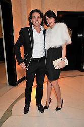 STEPHEN & ASSIA WEBSTER at a dinner in honour of Dennis Basso in celebration of his new boutique in Harrods held at Claridge's, Brook Street, London on 15th October 2009.
