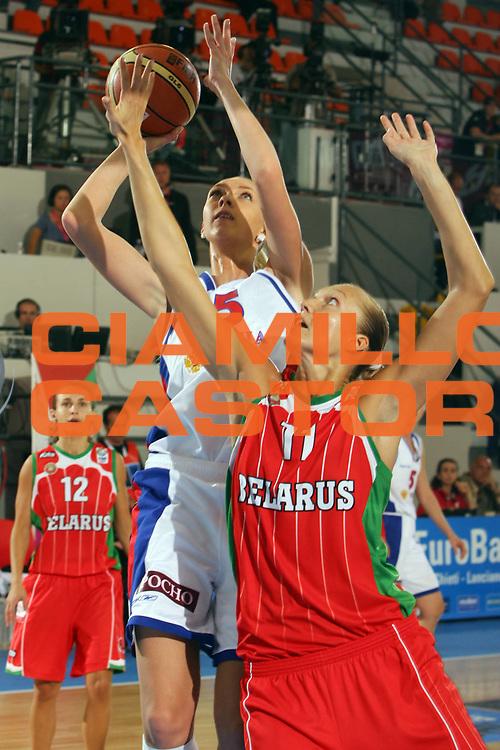 DESCRIZIONE : Ortona Italy Italia Eurobasket Women 2007 Russia Bielorussia Russia Belarus<br /> GIOCATORE : Oxana Rakhmatulina<br /> SQUADRA : Russia<br /> EVENTO : Eurobasket Women 2007 Campionati Europei Donne 2007 <br /> GARA : Russia Bielorussia Russia Belarus<br /> DATA : 01/10/2007 <br /> CATEGORIA : Tiro<br /> SPORT : Pallacanestro <br /> AUTORE : Agenzia Ciamillo-Castoria/S.Silvestri <br /> Galleria : Eurobasket Women 2007 <br /> Fotonotizia : Ortona Italy Italia Eurobasket Women 2007 Russia Bielorussia Russia Belarus<br /> Predefinita :